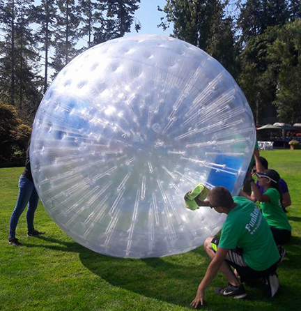 Zorbs Delivery Cleaning Corporate Event